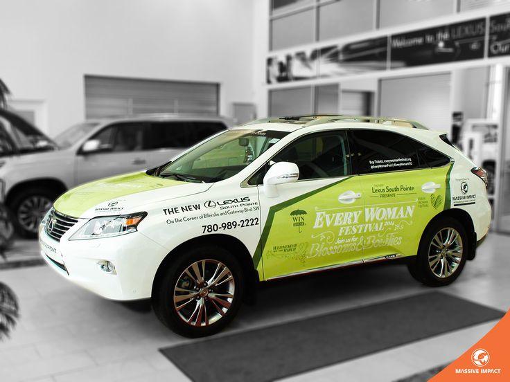 Massive impact vehicle branding for every woman festival in edmonton vehicle wrap