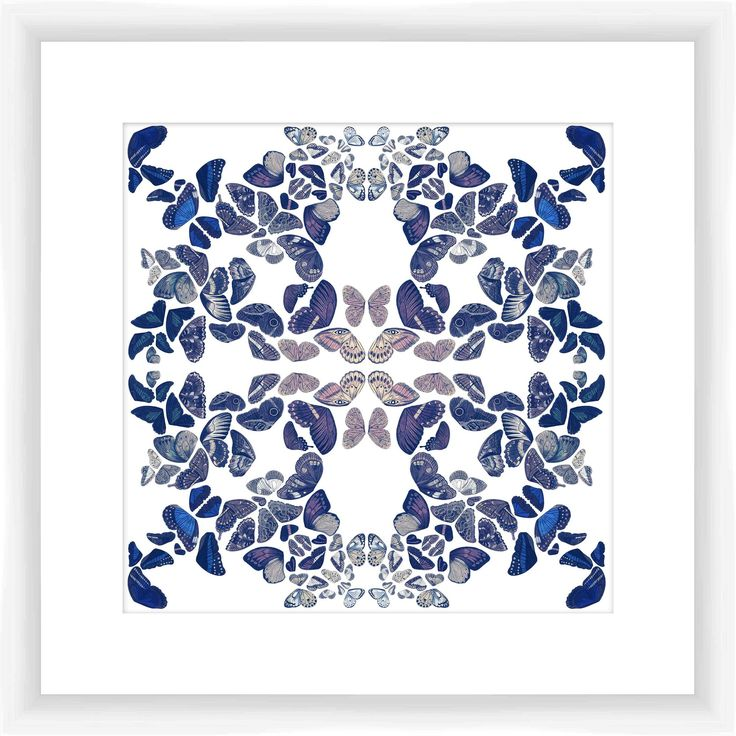 Butterfly Kaleidoscope III Giclee Print Framed Graphic Art