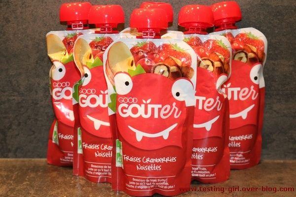 Les gourdes bio Fraises Cranberries Noisettes Good Goûter de Good Goût - Le blog de Testing-Girl