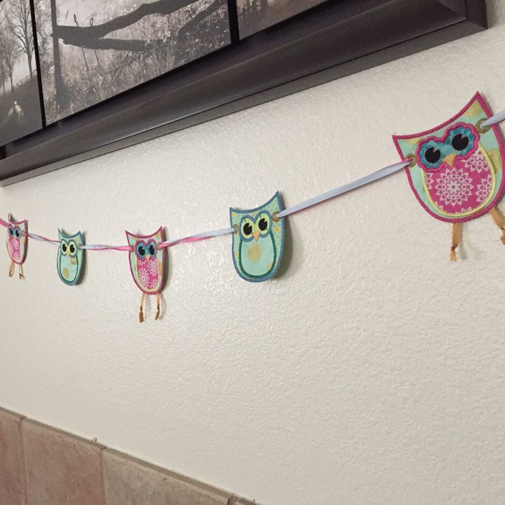 Owl banner featuring Lovey Dovey Lace by Riley Blake fabrics.