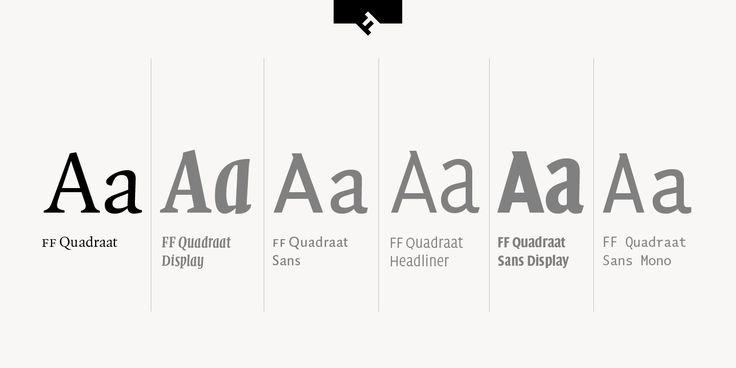 FF Quadraat | Font-Wiki | Typografie.info