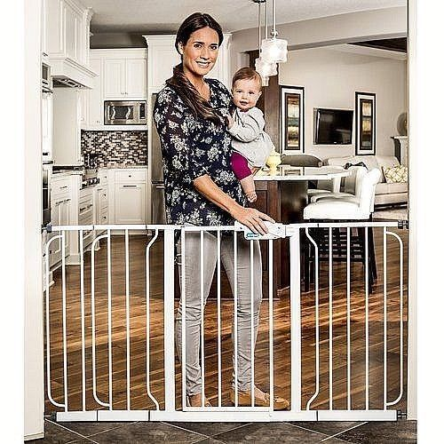 "Easy Walk Through Baby Gate With Extra Wide Steel Frame 29.5""-58"" New #DealsToaday"