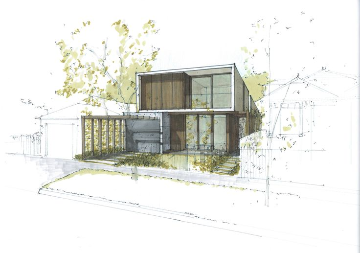 New Contemporary Home in Sydney concept sketch