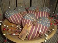 Patriotic flag heartsBowl Fillers, Heart Bowls, Patriots Americana, Bowls Fillers, Primitives Patriots, Fillers Ornies, Americana Flags, Flags Heart, Patriots Flags