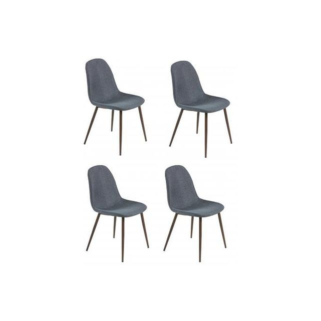 Lot De 4 Chaises Scandinaves Tissu Anthracite Brillance Declikdeco Un Lot De Chaises Esthetique Et Pratique Ce Lot De 4 Chaises Scandinaves Tissu Anthracite B