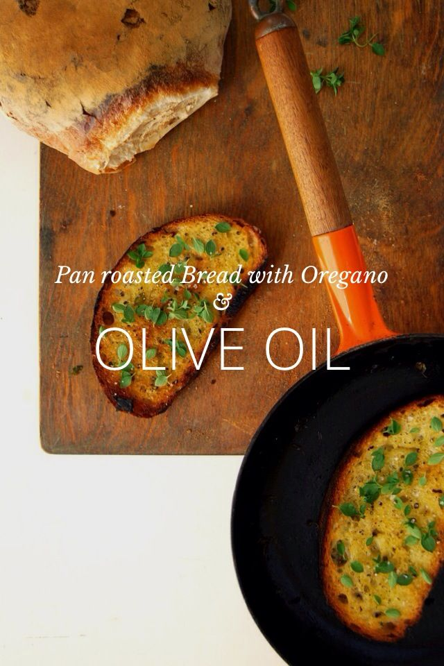 Pan Roasted Bread with Oregano and Olive Oil by Meike Peters on Steller #steller