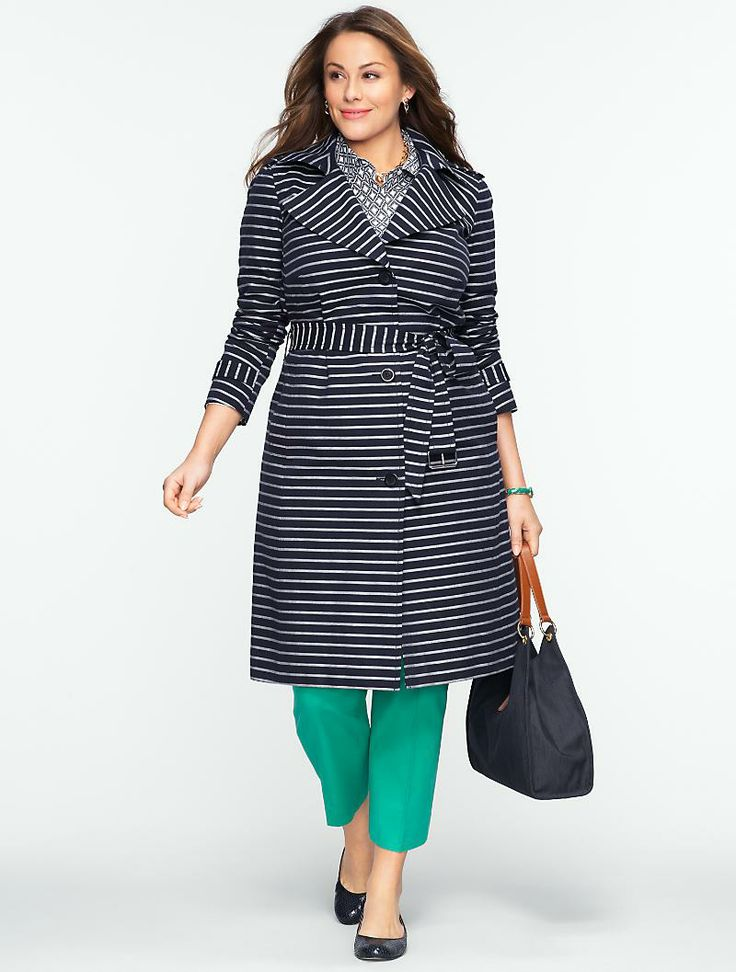 Talbots - Rope-Stripe Trench | Jackets and Coats | Woman