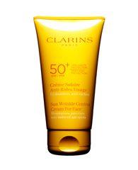 Top 10 mejores protectores solares para el rostro: Clarins Sunscreen for Face Wrinkle Control Cream SPF 50