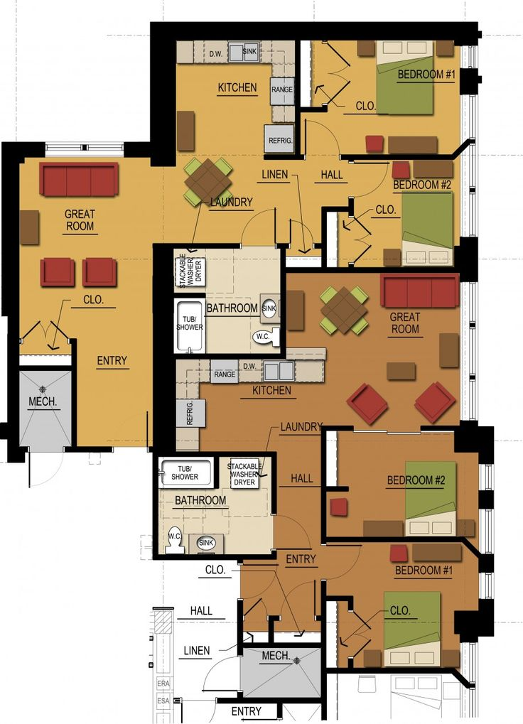17 Best Images About Mall Apartment Buildings On Pinterest Bedroom Floor Plans Bedroom