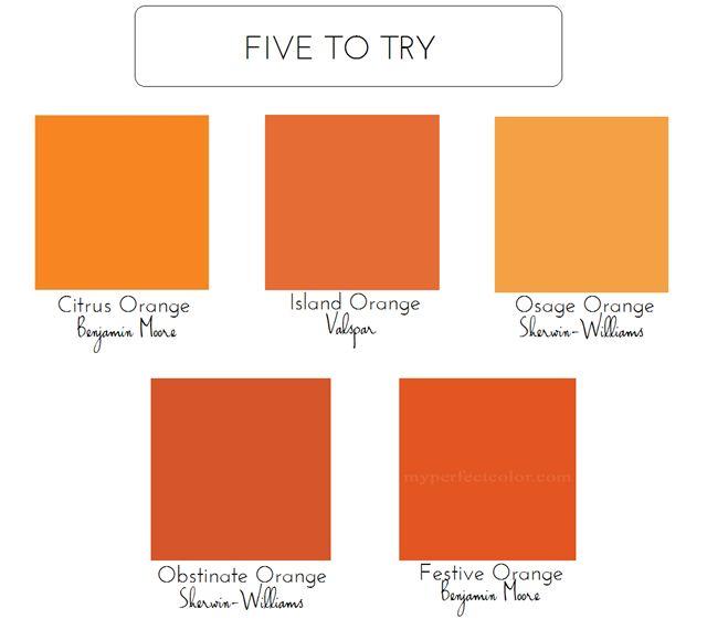 Best Orange Paint Colors Alluring 23 Best Paint Images On Pinterest  Paint Colors Painting Tips Review