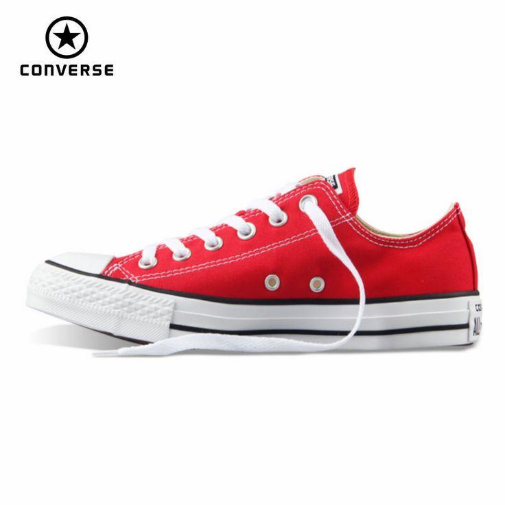 Original Converse all star zapatos de lona mujer hombre unisex sneakers bajos clásicos de las mujeres Zapatos de Skate de color rojo del envío libre