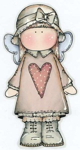 COUNTRY GIRL ANGEL CLIP ART
