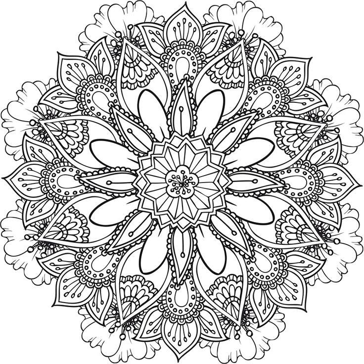 25 best ideas about mandala floral on pinterest dibujo - Coloriage a imprimer mandala ...