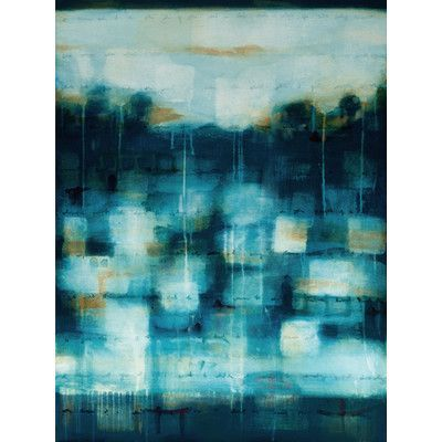 "Art Excuse Deep Blue Sea #1 by Julie Montgomery Original Painting on Wrapped Canvas Size: 60"" H x 40"" W x 1.5"" D"