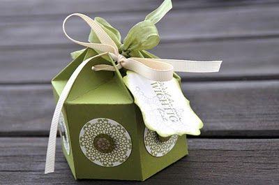 Bestempelt - Bettina und Maria: Hexagon-Box in Limone