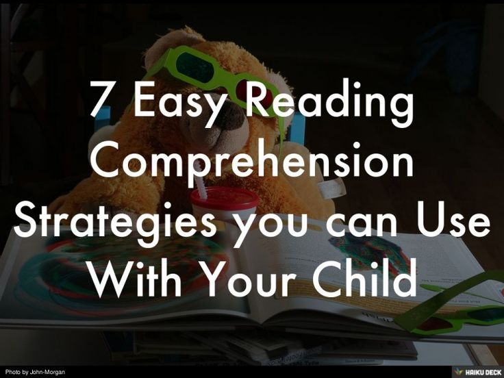 Aiding your child's reading comprehension can be fun, free and easy.  Read the full details here: http://tictacteach.com/easy-reading-comprehension-strategies/…