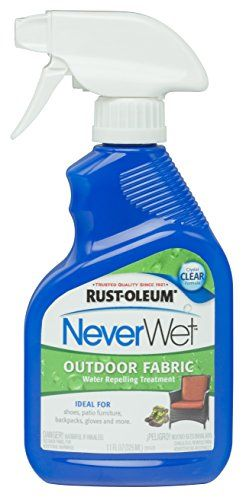 For use on outdoor cushions. Rust-Oleum 278146 NeverWet 11-Ounce Outdoor Fabric Spray, Clear