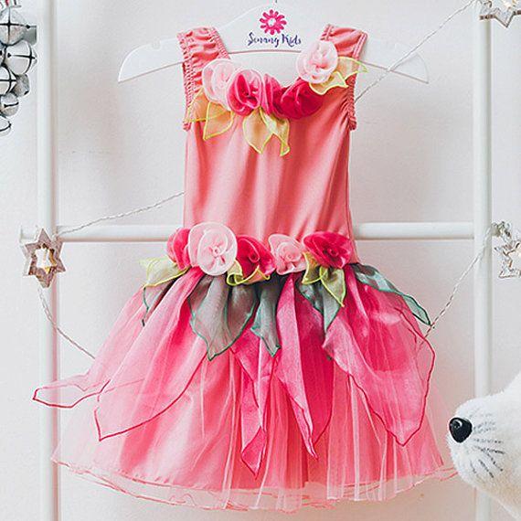 Märchen-Kleid Fee Kostüm Prinzessin Kleid von SenangKids auf Etsy