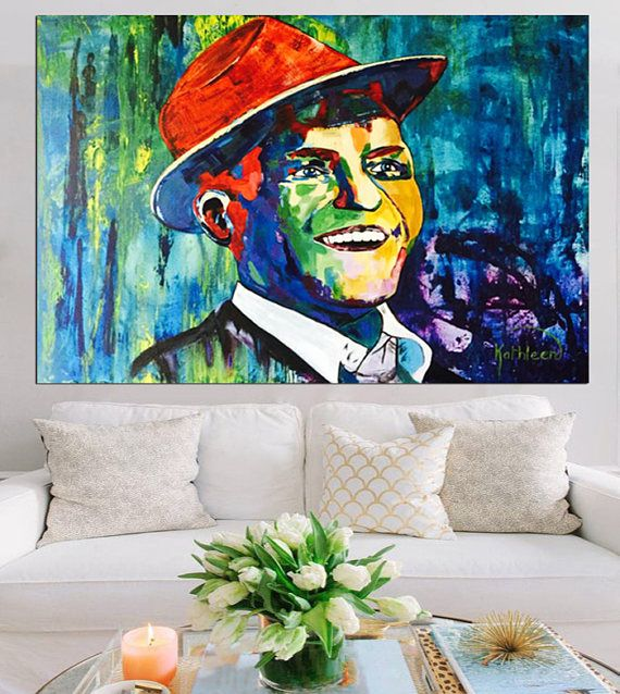 Frank SINATRA Art Original Painting on Canvas Large Abstract