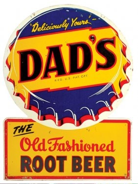 """Dad's Rootbeer Tin Sign 28"""" x 20"""""""