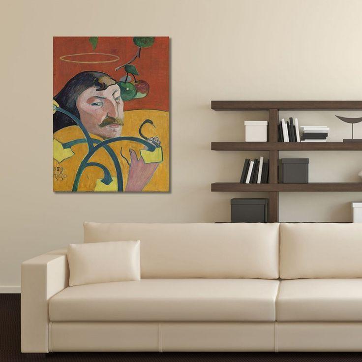 Reprodukcja obrazu P. Gauguin – Autoportret, Obraz na płótnie - Canvas - Feeby.pl