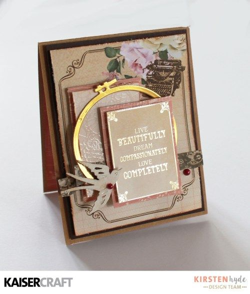 KAISERCRAFT - MADEMOISELLE - SET OF CARDS - KIRSTEN HYDE - MYHYDEAWAY - 4