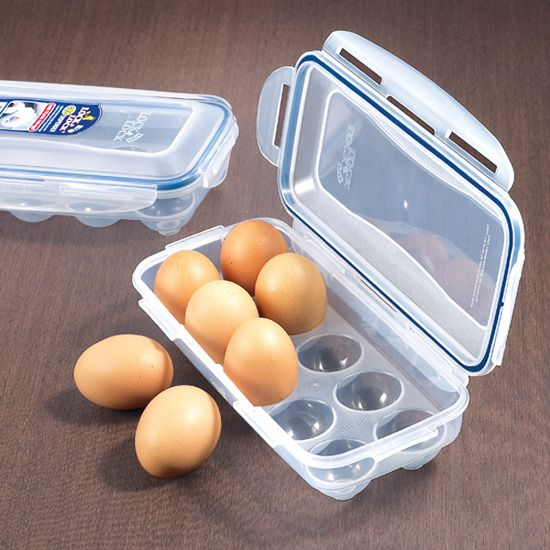 Store your eggs safely while increasing space inside your refrigerator!- Holds 10 large sized eggs- Stack other items on top to maximize storage space in your refrigerator- Perfect for camping