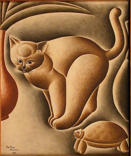 Vicente do Rego Monteiro (Brazil, 1899–1970). Cat and Turtle, 1925. Brazilian. The Metropolitan Museum of Art, New York. Robert Lehman Collection, 1975 (1975.1.2384) #cats