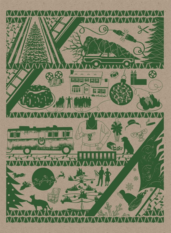 Christmas Vacation Wrapping Paper from Monkey Ink Design  *Also available in Red
