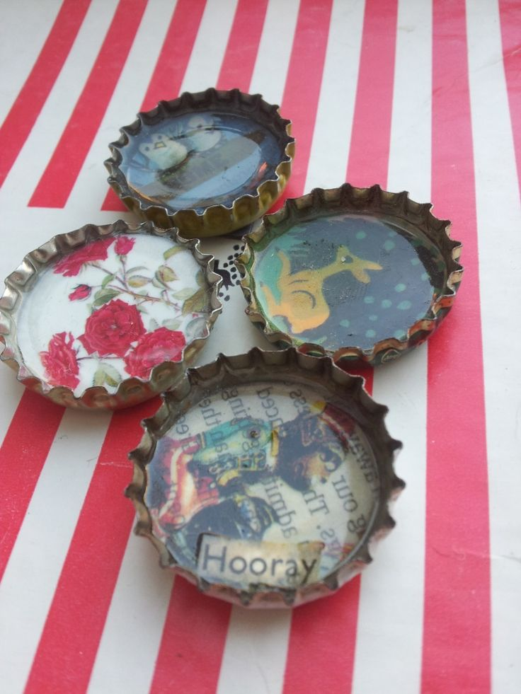 Bottletop Magnets A Quick Craft Cute Crafts Quick