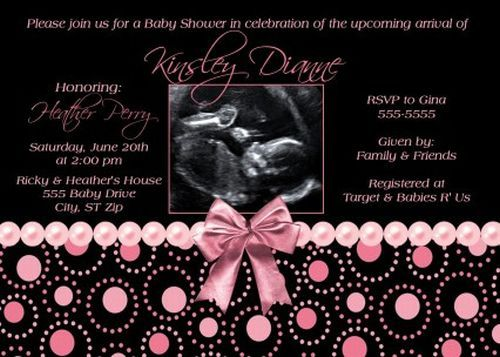 Wonderful Custom Baby Shower Invitations Set The Theme For The Evening