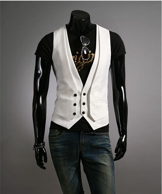 Free Printable Men's Vest Patterns | ... Stylish Slim Fit Pattern Spring Autumn Vest Waistcoats For Men Coat