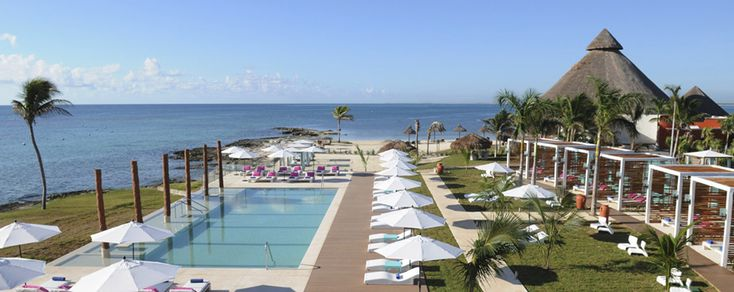 Cancun Yucatan All Inclusive Mexico Resorts & Vacations   Club Med. Excursion to El Meco, Chichen Itza, Tulum archaeological sites. cenotes sinkholes of Ek Balam, sailing excursion to Isla Mujeres, biosphere Sian Ka'an tour (largest naturally protected ma