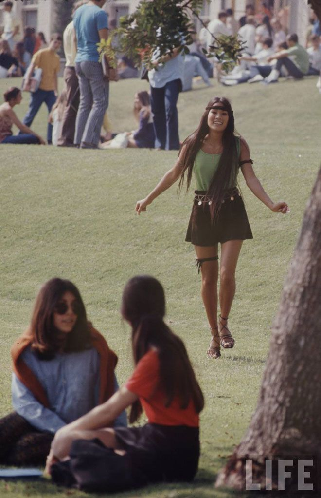 High school fashions, 1969  i know what you're thinking… are these more fashion snaps from coachella? no indeed! these are high school fashions in 1969 photographed by arthur shatz for life magazine... Hippie Hugs with LOVE, Michele