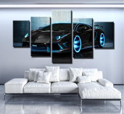 AVENTADOR LAMBORGHINI Auto & Motor Leinwand Wandkunst – Yasirah