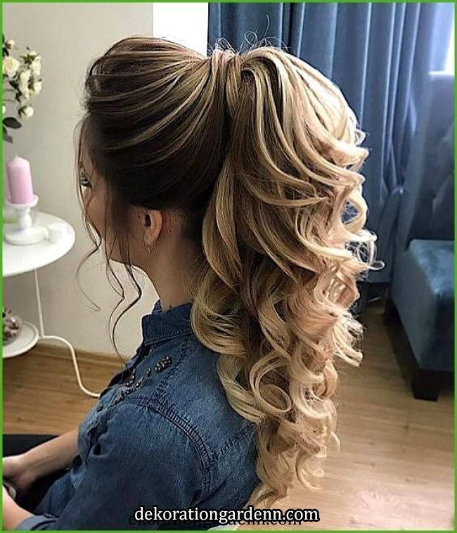 Formale Pferdeschwanzfrisur; Trend Frisur 2019; Frisuren; Tägliche Frisur; W ... - Formale Pferdeschwanzfrisur; Trend Frisu... in 2020   Ponytail hairstyles, Long hair styles, Short hair styles