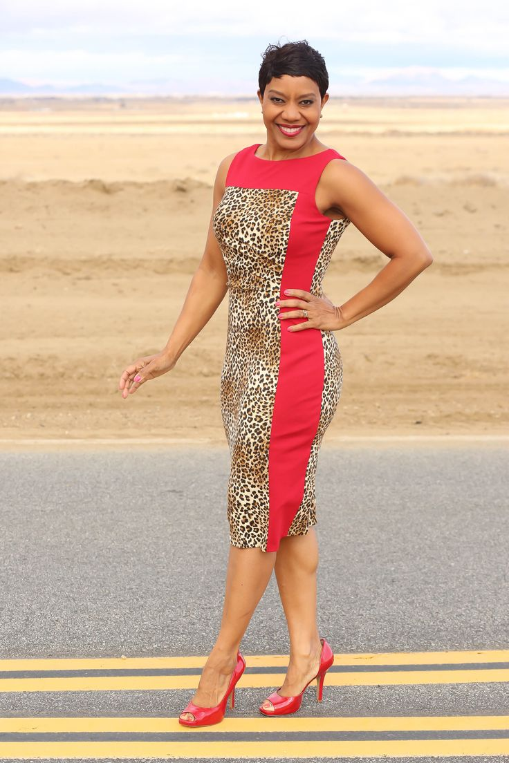 Vogue 1329 - Kay Unger New York + Red/Cheetah Mix