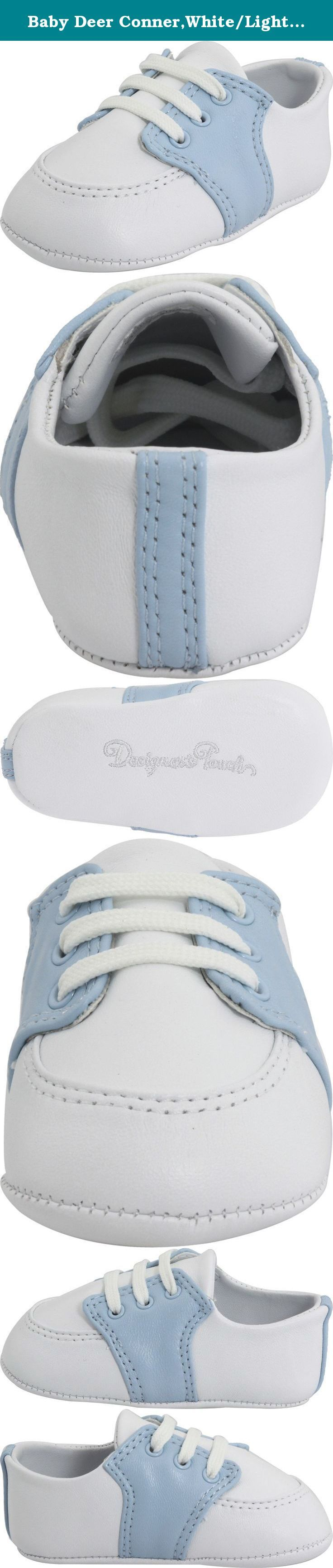 Baby Deer Conner,White/Light Blue Leather,3 M US Infant. Boy's saddle oxford. Soft leather upper. Leather lining. Features a folded top line. Measurements Weight 1 oz Product measurements were taken using size 3 Infant, width M. Please note that measurements may vary by size.