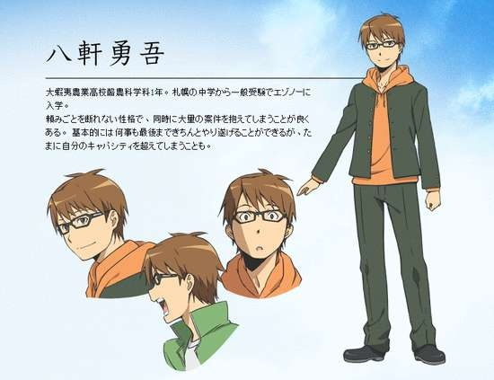 Silver Spoon Anime Character Designs & More Staff Revealed