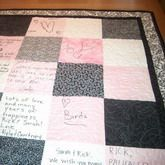 Guest Book Quilt! Love this idea, wish I knew someone who could quilt, this would be a great keepsake for the bridal shower