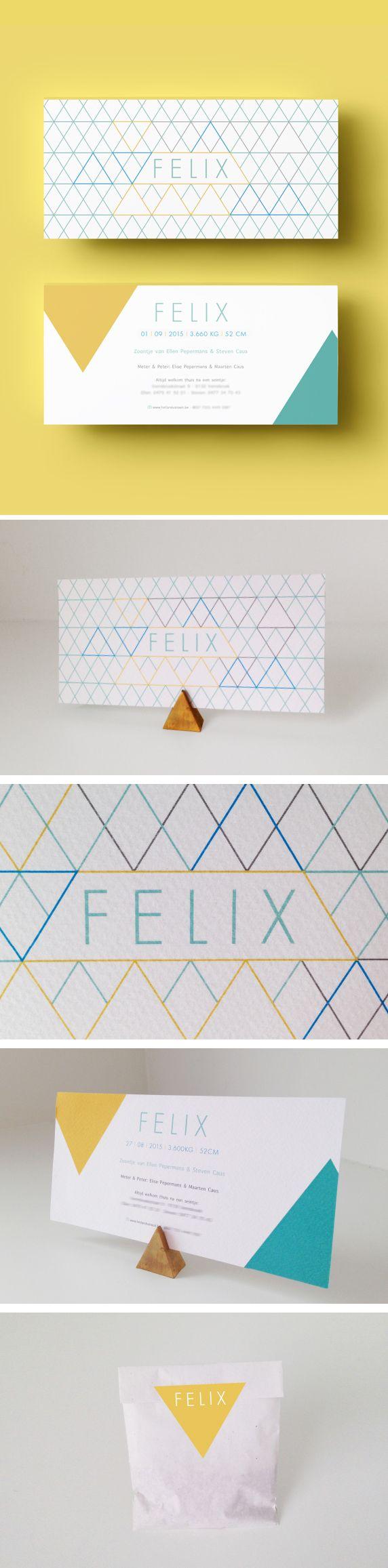 Ontwerp geboortekaartje Felix