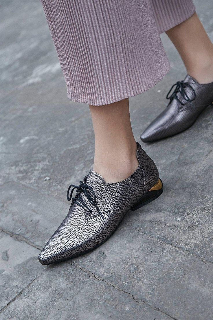 Hannah Fashion Oxfords with Metal Detail
