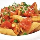 brooklyn girls penne arrabiata, makes a ton! only use two breasts and 1 cup bread crumbs and one egg