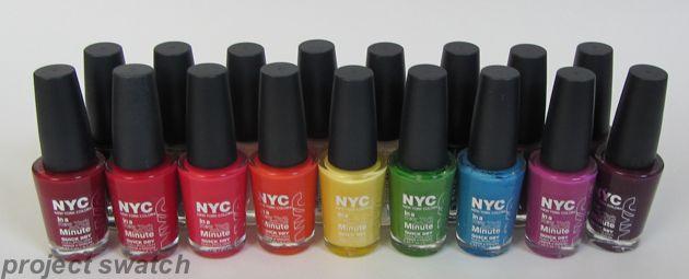 NYC Nail Polish Swatches - Quick Dry