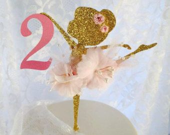 Ballerina cake topper ballerina party cake by JoSeasonsCrafts