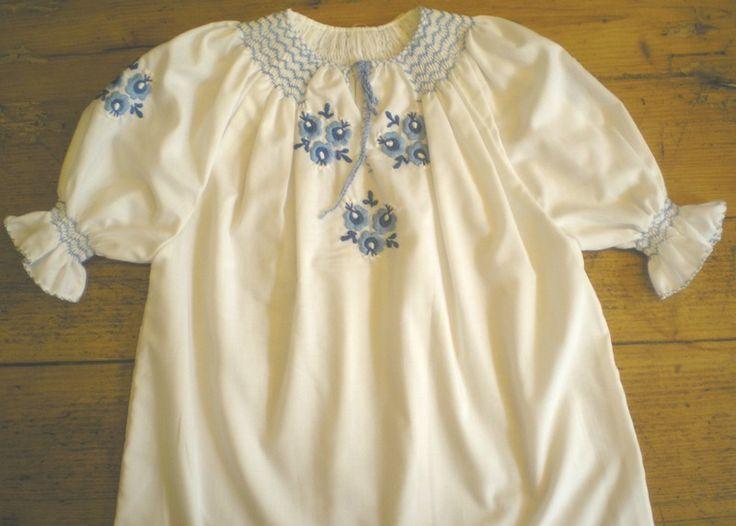 Hungarian blouse for children.