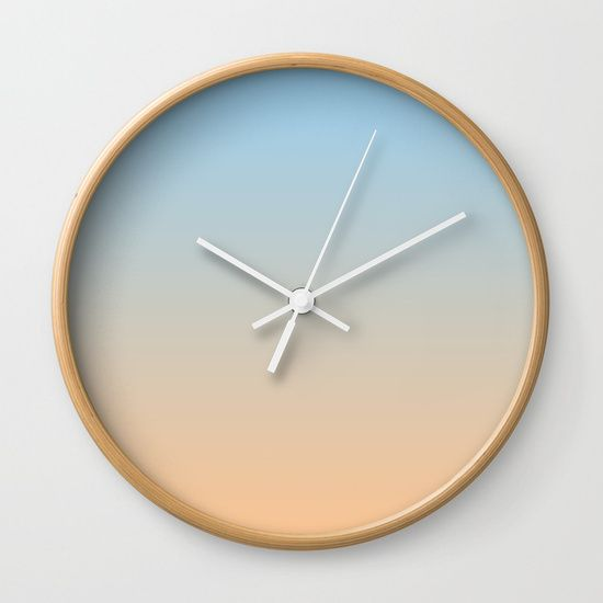 Mindfulness No.1 - blue and orange clock by M Gloria Hunter