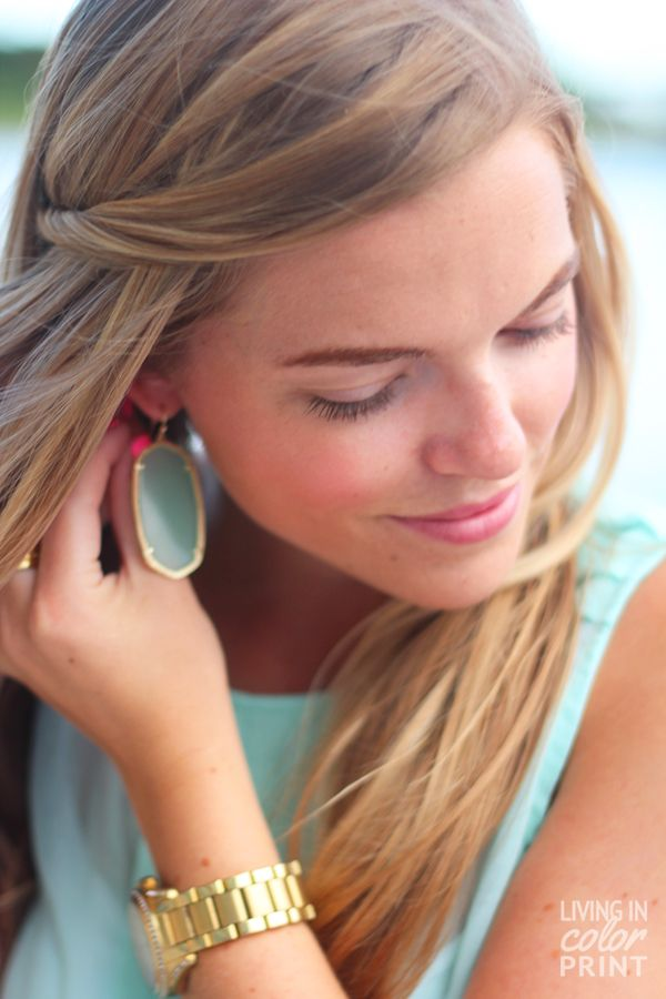 Mint Earrings | Living In Color Print