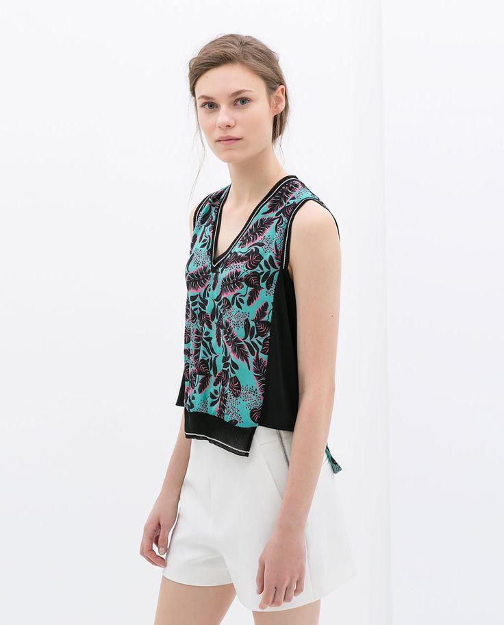Zara Woman Combined Office Black Leather Handbag Chic Minimal Bag