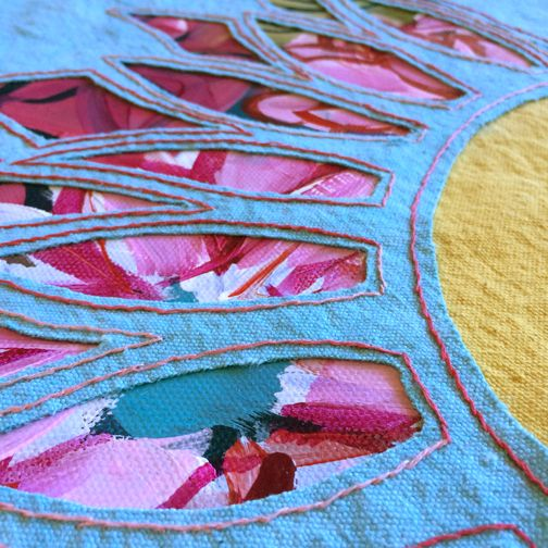 See how to construct your own tote bag which features a reverse-applique design on the front.